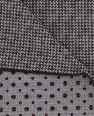 Cotton and wool pocket square ELEVENTY