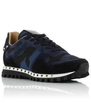 Camouflage suede and nylon sneakers VALENTINO