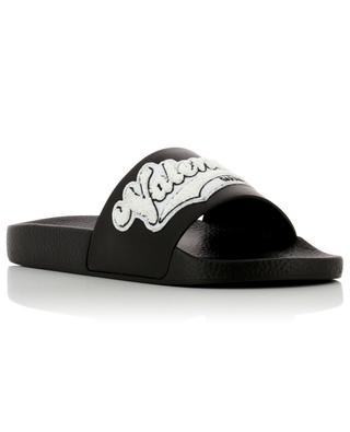 Rubber and leather slides VALENTINO