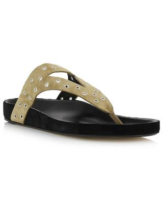 Elbry suede and leather flip-flops ISABEL MARANT