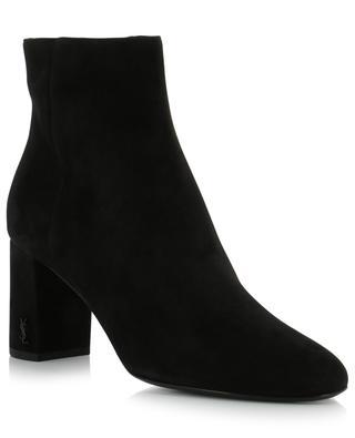 Loulou 70 suede ankle boots SAINT LAURENT PARIS