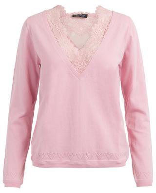 Cotton blend V-neck jumper TWINSET