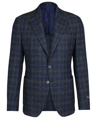 Checked wool and silk blend bouclé blazer Drop 7R ATELIER BG
