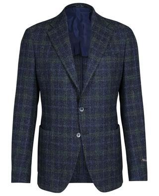Checked wool and silk blend bouclé blazer Drop 7R ATELIER BG