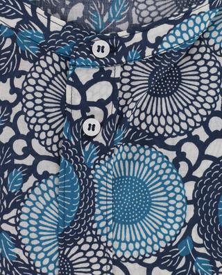 Floral print cotton shirt PAOLO PECORA