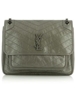 Grand sac porté épaule en cuir froissé effet vintage Niki SAINT LAURENT PARIS