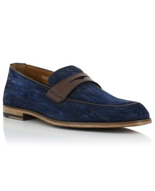 Leather and denim loafers DOUCAL'S