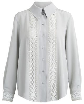 Lace-embellished silk shirt CHLOE
