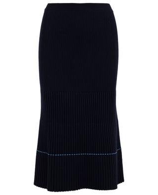 Jupe tricot en laine vierge mélangée VICTORIA BECKHAM