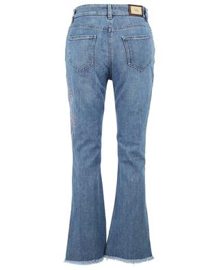 Straight fit jeans with floral embroideries ETRO