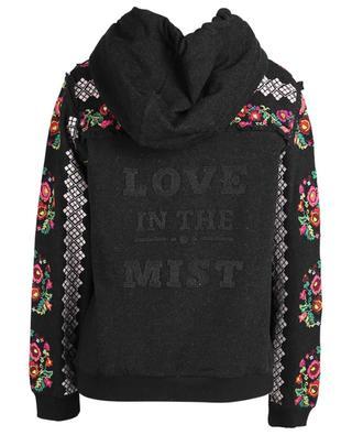 Sweat-shirt à capuche en coton mélangé broderies point de croix NEEDLE &THREAD