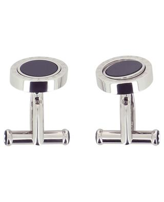 Stainless steel cufflinks with carbon intarsia MONTBLANC
