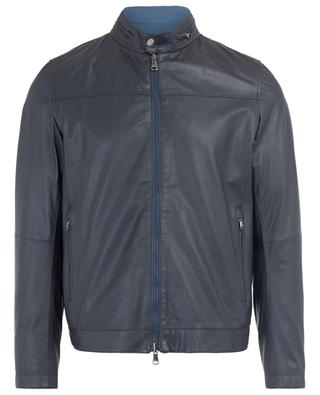 Reversible leather and technical fabric jacket GIMO'S