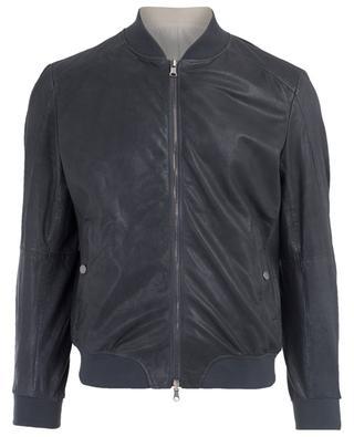 Reversible leather bomber jacket GIMO'S