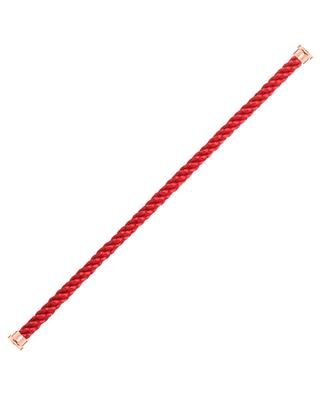 Force 10 red steal cord for bracelet FRED PARIS