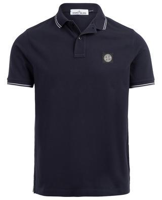 Cotton blend slim fit polo shirt STONE ISLAND