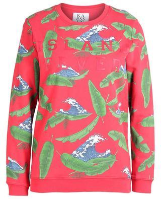 Sweatshirt aus Baumwolle mit Wellenprint Island Fever ZOE KARSSEN