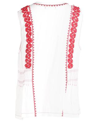 Delphi sleeveless embroidered linen top SACK'S