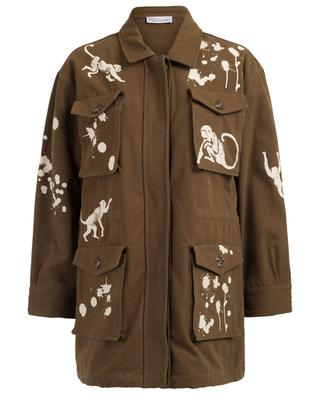 Printed cotton parka RED VALENTINO