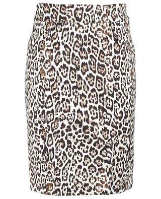 Janine short leopard print crepe pencil skirt SEDUCTIVE