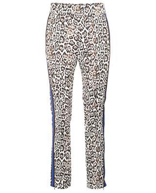 Ania Stripe leopard printed stretch slim fit trousers SEDUCTIVE