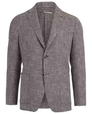 Houndstooth print linen and cotton blazer ATELIER BG