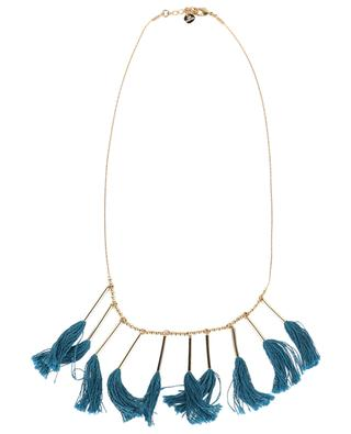 Gold-plated fringe necklace LES CLEIAS