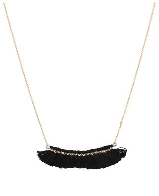 Gold-plated large tassel row necklace LES CLEIAS