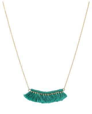 Gold-plated small tassel row necklace LES CLEIAS