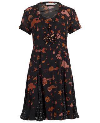Space Print pleated dress COACH