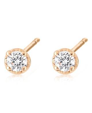 Boucles d'oreilles en or rose et diamants Mini Diamond Puce GINETTE NY