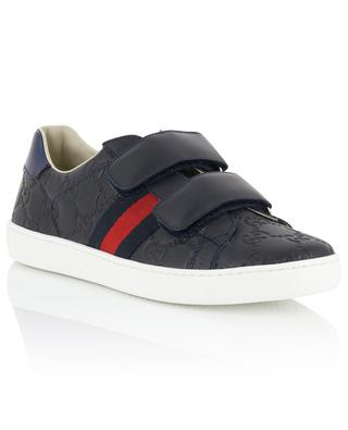 GG Supreme leather sneakers GUCCI