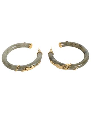 Creolen aus Acetat und goldenem Metall Cobra Grand Modèle GAS BIJOUX