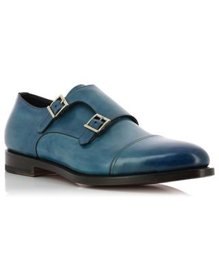 Leather monk strap shoes SANTONI