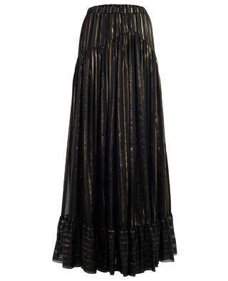Lurex detail maxi silk skirt PHILOSOPHY