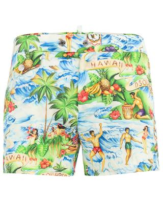 Printed short swim shorts DSQUARED2