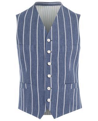 Fefe linen chequered waistcoat CARUSO
