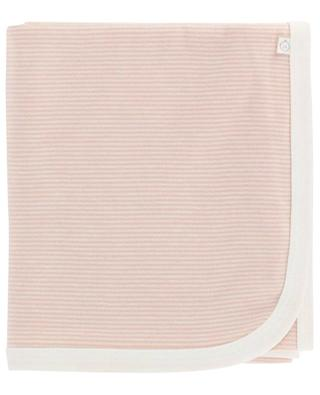 Striped viscose and organic cotton baby blanket MORI