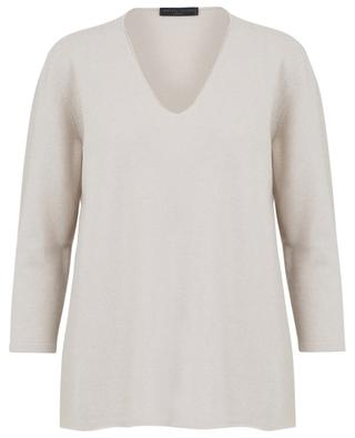 Pullover aus Kaschmir mit Seidendetail FABIANA FILIPPI