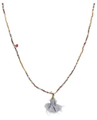 Long gemstone and metal pearl necklace GACHON POTHIER