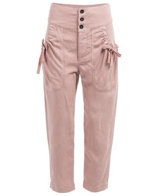 Pantalon large en lin mélangé ISABEL MARANT