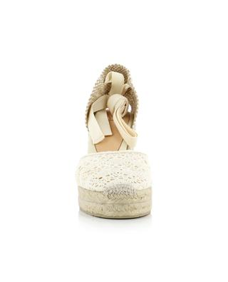 Carina crocheted wedge espadrilles CASTANER
