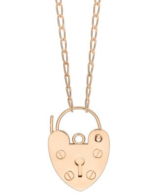 Providence pink gold necklace with heart-shaped pendant GINETTE NY