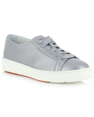 Sneakers aus metallisiertem Leder SANTONI