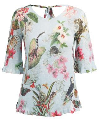 Bedruckter Pullover aus Leinen PRINCESS