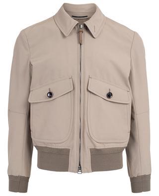 Cotton blend bomber jacket TOM FORD