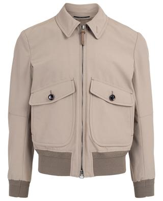 Cotton blend bomber jacket TOM FORD