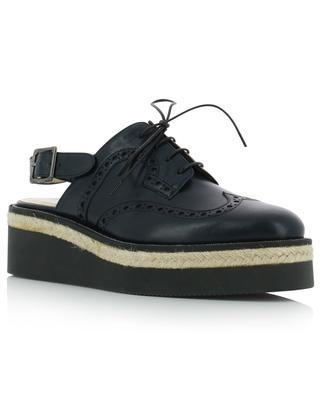 Rhinestone adorned sling-back leather platform derby shoes FABIANA FILIPPI