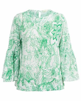 Bedruckter Pullover aus Leinen PASHMA