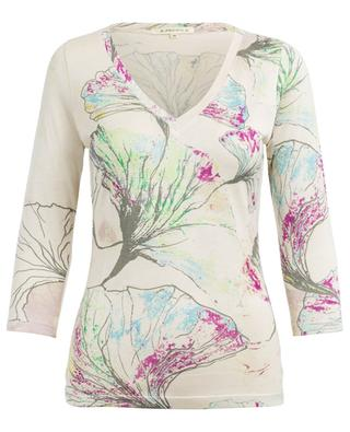Bedruckter Pullover aus Seide PASHMA